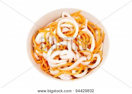 Squid Salad With Carrots