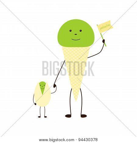 Pistachio And Ice Cream