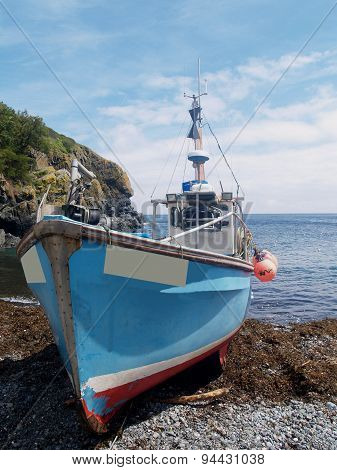 Cadgwith bay fishing boat