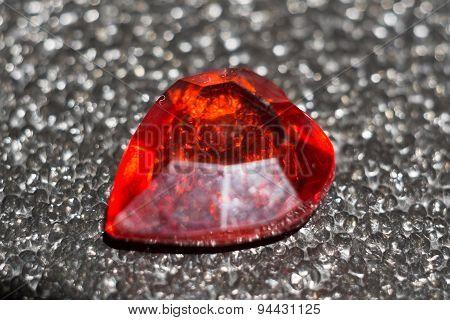 Red Plastic Heart On Black