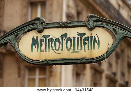 Metro Rail Station Signs