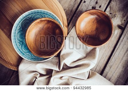 Rustic dishes