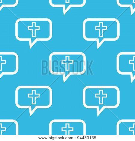 Christian cross message pattern