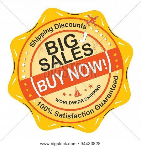Big Sales Buy Now! Label / Sticker for print