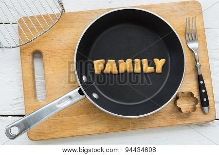 Letter Biscuits Word Family And Cooking Equipments.