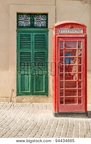 British phone box in Malta