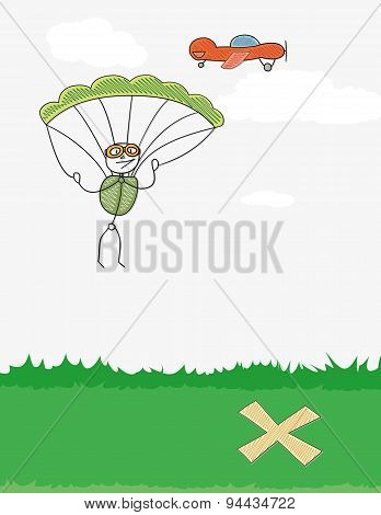 Paratrooper And Plane