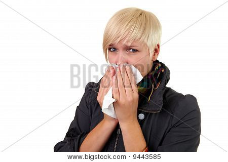Girl Blow´s Her Nose