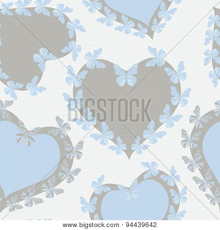 Hearts with butterflies.