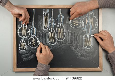 Lightbulb Chalkboard