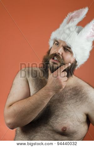 Thinking Bunny Man
