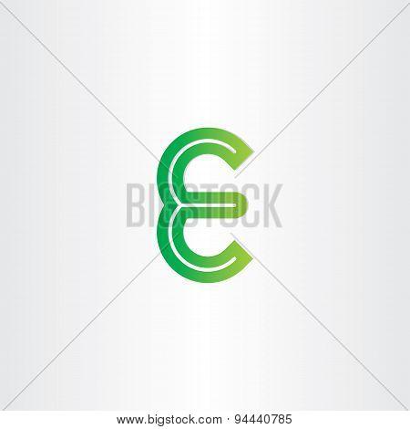 Green Letter E Symbol Design