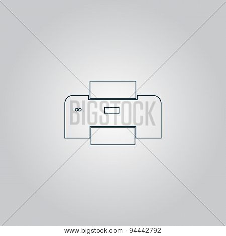 Printer icon, vector illustration.