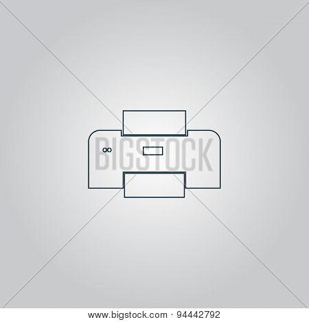 Printer icon, vector illustration.