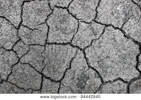 Cracked ground
