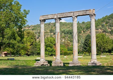 Ancient Roman Temple In Riez, France