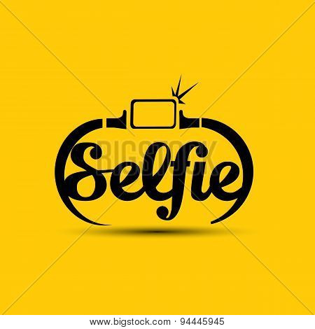 Taking Selfie Photo on Smart Phone concept icon