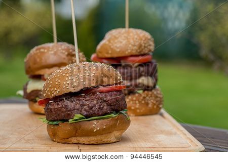 Tasty grilled burger