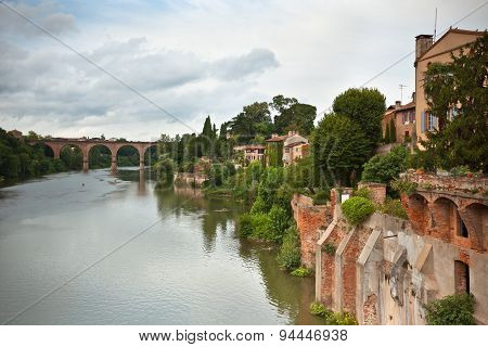 View Of The Tarn River In Albi, France