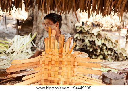 Rattan Baskets In Myanmar
