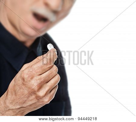 Old Man Wants To Take A Pill
