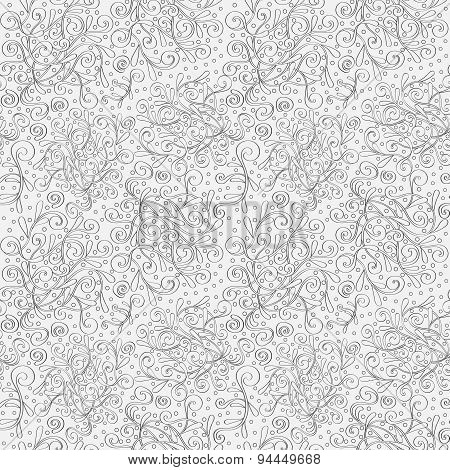 Seamless pattern tracery handmade, natural mood