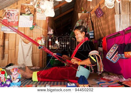 Woman Weaving, Thailand