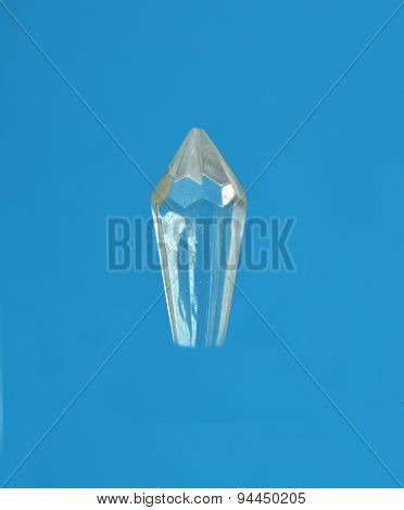 Glass Crystal On Blue