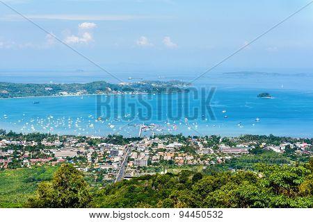 High Angle View Ao Chalong Bay