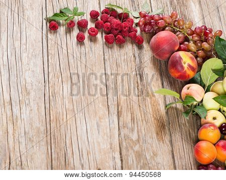 Fresh Various Fruits And Berries
