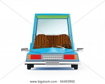 cartoon 1970 car front