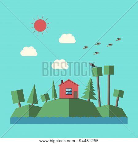Vector Landscape Flat Style