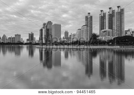 Bangkok cityscape in Black and White