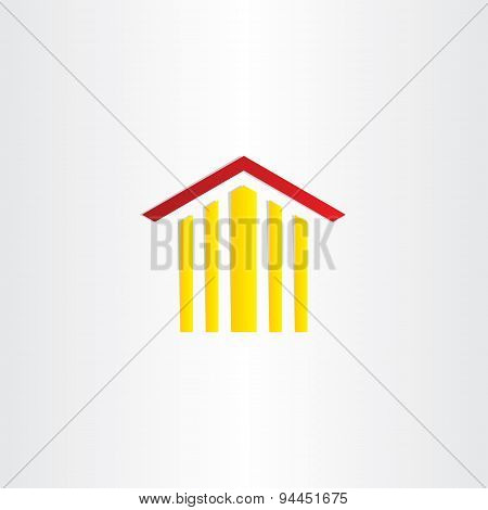 Court Building Clipart Design