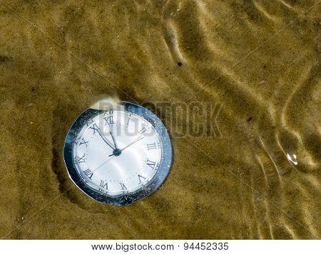 Clock Under Water.