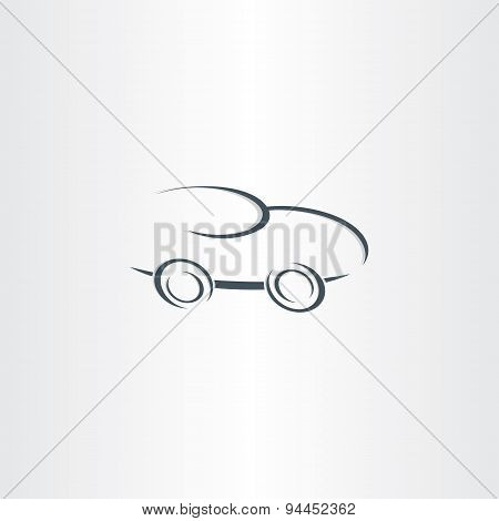 Sport Racing Car Stylized Icon