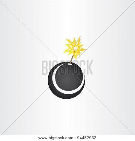 Black Bomb Explosion Icon