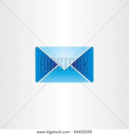 Blue Letter Envelope Mail Symbol