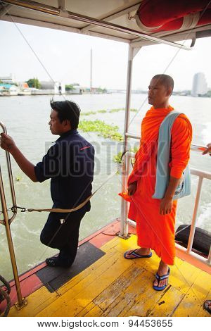 Crossing Chao Phraya River, Bangkok