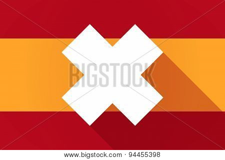Spain  Long Shadow Flag With An Irritating Substance Sign