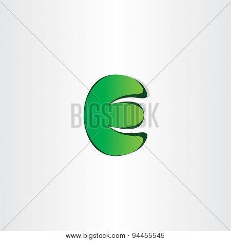 Green Letter E Eco Symbol