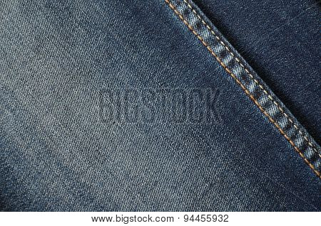 Jeans On The Full Background Close Up Horizontal
