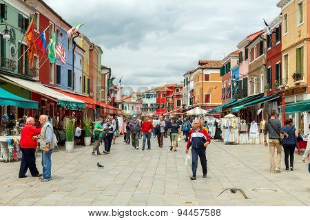 Venice. The Island Of Burano.