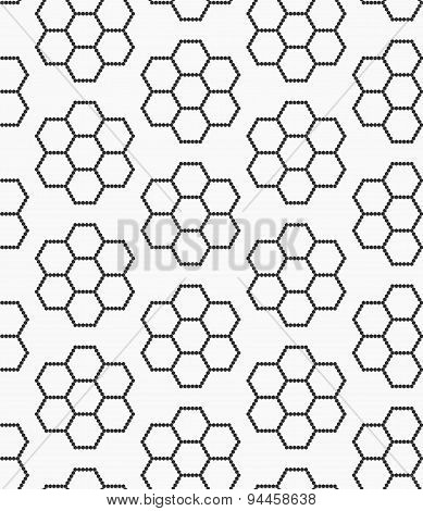 Flat Gray With Hexagonal Flowers
