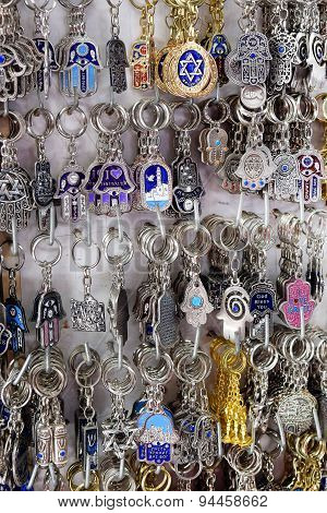 Keychains, Hamsa - Traditional Palm-shaped Amulet