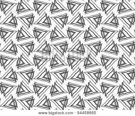 Flat Gray With Interlocking Triangles