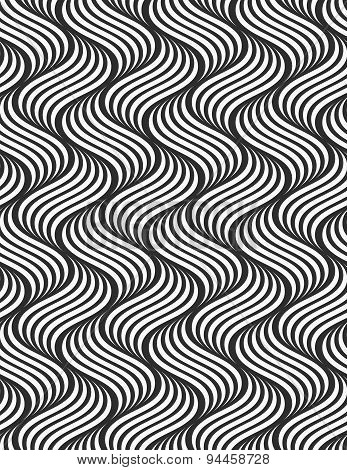 Flat Gray With Striped Ripples