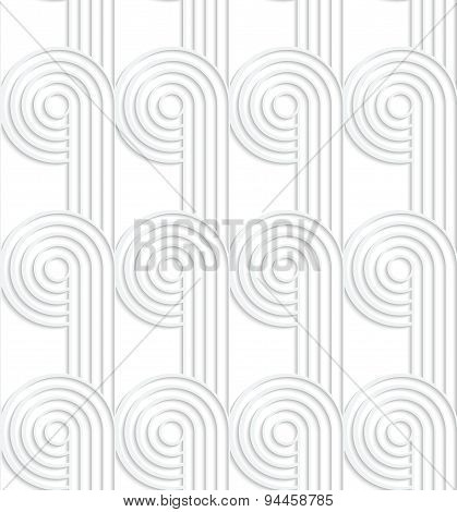 Paper Cut Out Circles With Continues Stripes