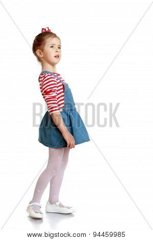 Lovely little Girl summer denim dress