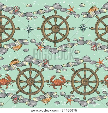 Nautical background, Marine pattern
